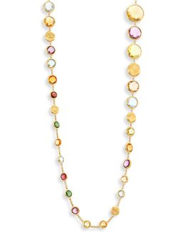Jaipur Semi-precious Multi-stone & 18k Yellow Gold Necklace/36