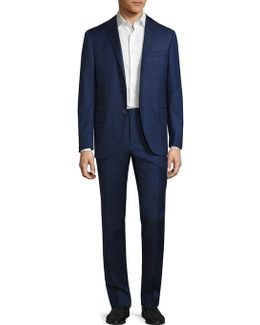 Regular-fit Striped Wool Suit