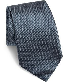 Solid Quilted Silk Tie