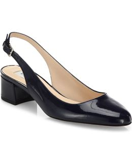 Chloe Patent Leather Slingback Pumps