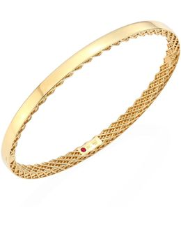 Symphony 18k Yellow Gold Bangle
