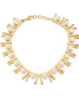 Sabertooth Faux-pearl Necklace