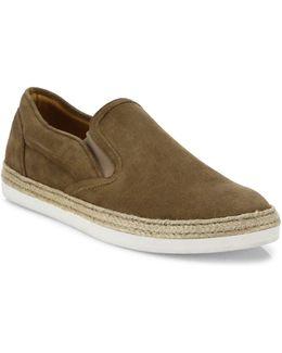 Espadrille Suede Slip-on Sneakers