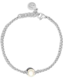 8mm Organic Pearl Chain Bracelet