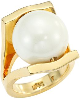 Pinball Faux-pearl Ring