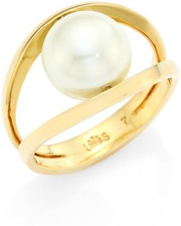 Pinball Faux-pearl Ring