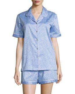 Leopard Print Short Pajama Set
