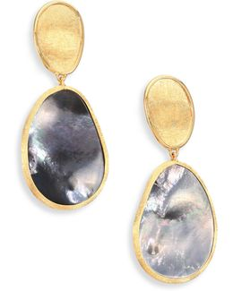 Lunaria Black Mother-of-pearl & 18k Yellow Gold Drop Earrings