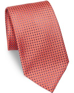 Small Micro Pattern Silk Tie