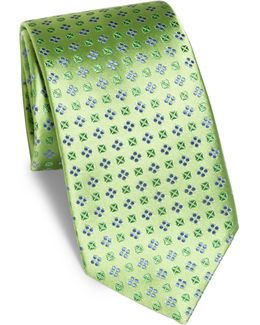 Floral Small Pattern Silk Tie