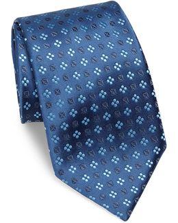Small Floral Silk Tie