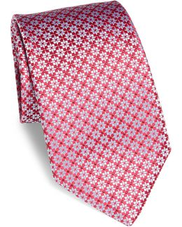 Abstract Star Silk Tie