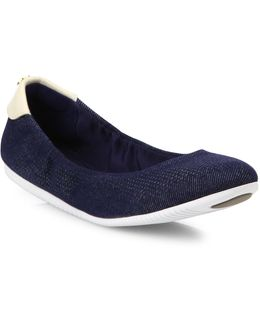 Studiogrand Packable Denim Ballet Flats