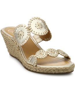 Shelby Whipstitched Leather Sandals