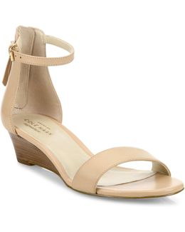 Adderly Leather Ankle-strap Wedge Sandals