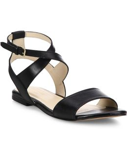 Fenley Leather Ankle-wrap Sandals