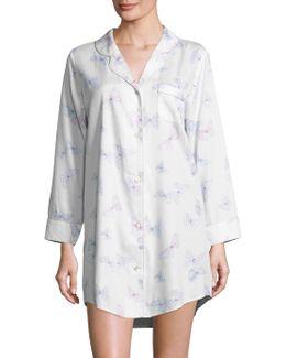 Button-front Butterfly Sleepshirt