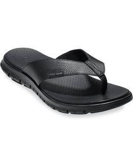 Zerogrand Leather Strap Sandals