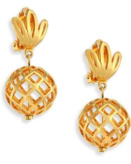 Pineapple Clip-on Earrings