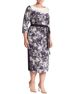 Divinas Cady Floral-print Sheath Dress