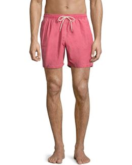Victor Cotton-blend Swim Shorts
