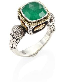 Nemesis Jade & 18k Yellow Gold Ring