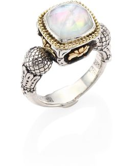 Nemesis Mother-of-pearl Doublet Ring