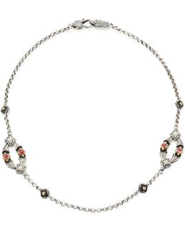 Nemesis Mother-of-pearl & Pink Tourmaline Two-station Necklace