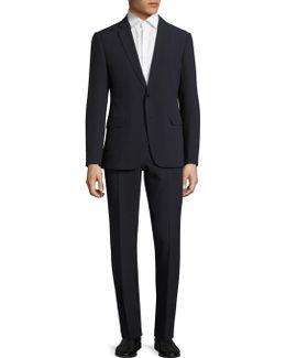 Solid Seersucker Suit