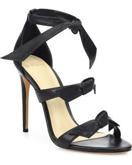 Lolita Black Leather Sandals - Size 5
