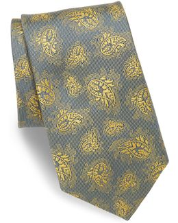 Paisley Embroidered Silk Tie