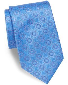 Floral Patterned Silk Tie