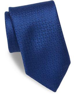 Textured Silk & Linen Blend Tie