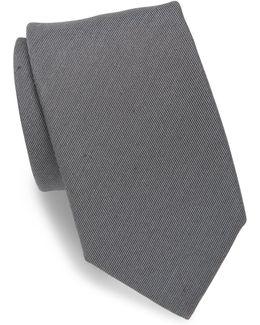 Silk & Linen Blend Twill Tie