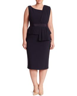 Damina Peplum Sheath Dress
