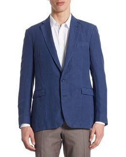 Purple Label Regular-fit Slub Silk & Linen Sportcoat