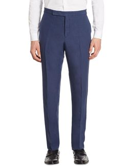 Anthony Classic-fit Silk & Linen Pants