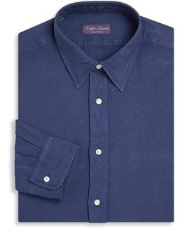 Purple Label Regular-fit Silk & Linen Dress Shirt