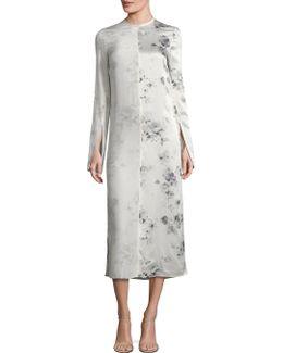 Larrew Floral-print Silk Midi Dress