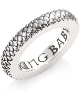 Sterling Silver Dragon Scale Infinity Ring