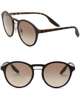 53mm Linea Rossa Square Wrap Sunglasses