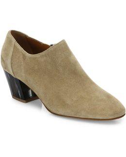 Fawna Suede Block Heel Booties