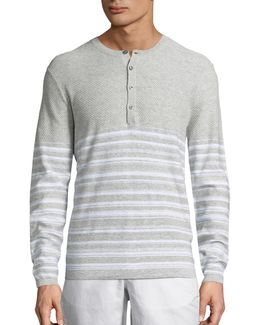 Mix Texture Heathered Henley