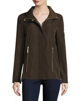 Jackie Zip In Hood Rain Jacket