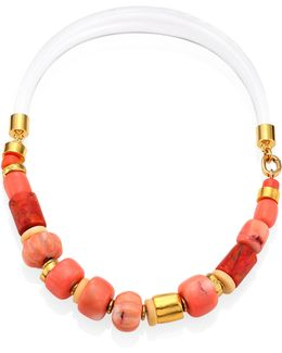 Carved Coral Collar Necklace