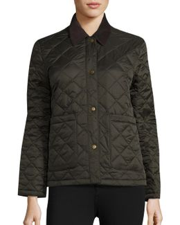 Summer Cropped Quilted Jacket
