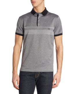 Racer-striped Sateen Cotton Polo
