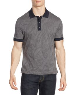 Tonal Pattern Cotton Polo