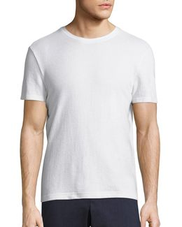 Terry Cotton Blend Tee