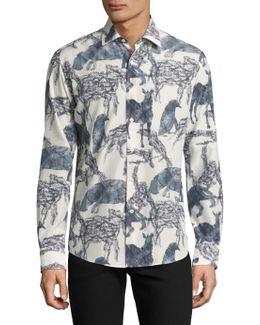 Stamped Soft Wool Shirt